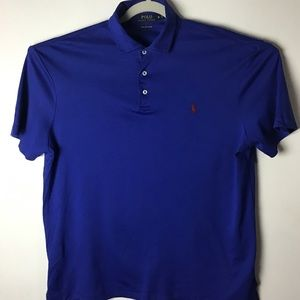 Polo Pima Soft Touch blue polo shirt. Xlarge